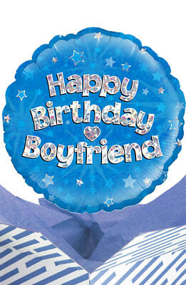 Happy Birthday Boyfriend Balloon in a Box Gift Delivered. Personalised Message!