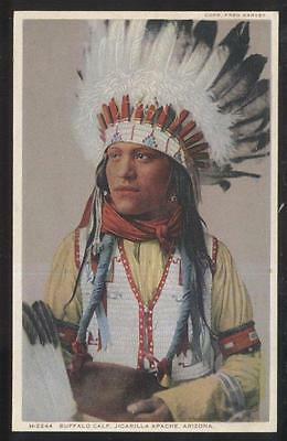 POSTCARD JICHRILLA APACHE ARIZONA INDIAN CHIEF
