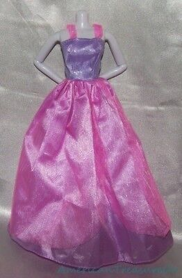 (Gorgeous Barbie LILAC PURPLE & CANDY PINK GLITTERY STRIPE Prom Ball Gown Dress)
