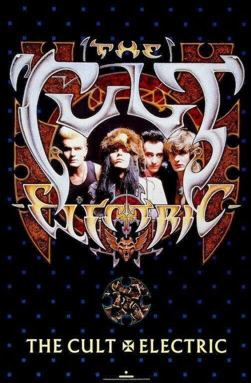 The Cult Electric POSTER 1987 Ian Astbury Rare LARGE