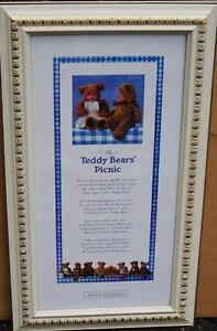 REDUCED!!!Beautifully Framed Teddy Bears Picnic Art Print Stratford Kitchener Area image 1