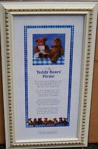 REDUCED!!!Beautifully Framed Teddy Bears Picnic Art Print
