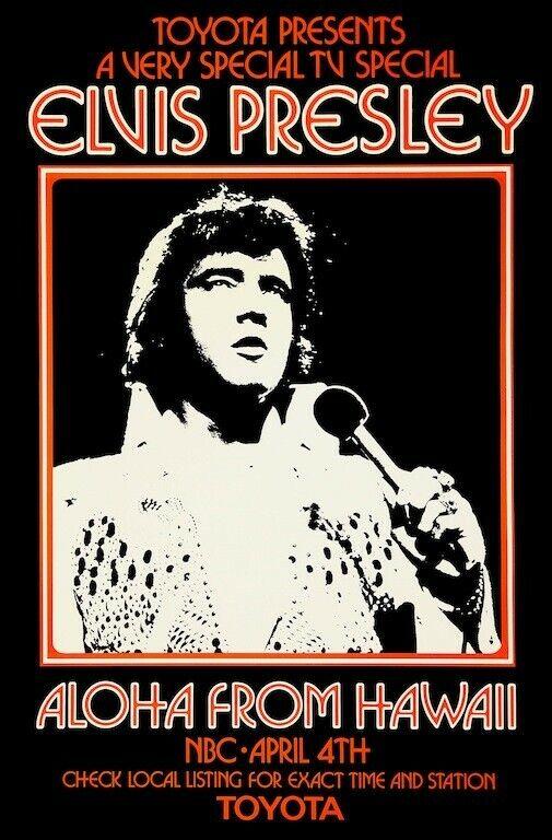 Elvis Presley Aloha From Hawaii 1973 POSTER Rare Large