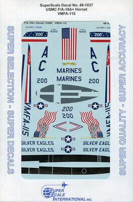 Microscale Decal 1:48 Scale #MS48-1037 VMFA-115 Hornet USMC F//A-18A
