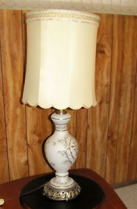 Table Lamps with light inside globe on base