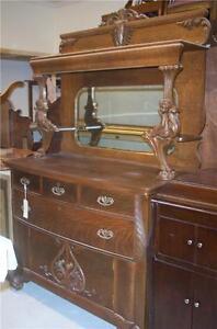 Quartersawn-Oak-Cherub-Carved-Sideboard-Buffet