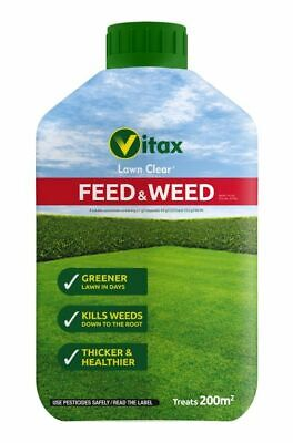 6x Vitax Green Up Lawn Care Feed & Weed 100sqm - 5FW500