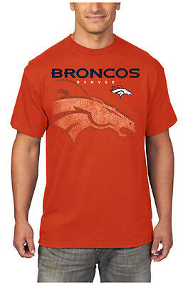 NFL Denver Broncos Mens Empty Backfield Short-Sleeve Orange T-Shirt](Denver Nfl)