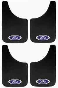 4PC FORD OVAL LOGO 9X15 MUD SPLASH GUARDS FLAPS CAR TRUCK SUV NEW FREE SHIPPING