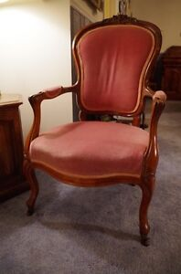 Vintage French Provincial Carved Wood Accent Chair