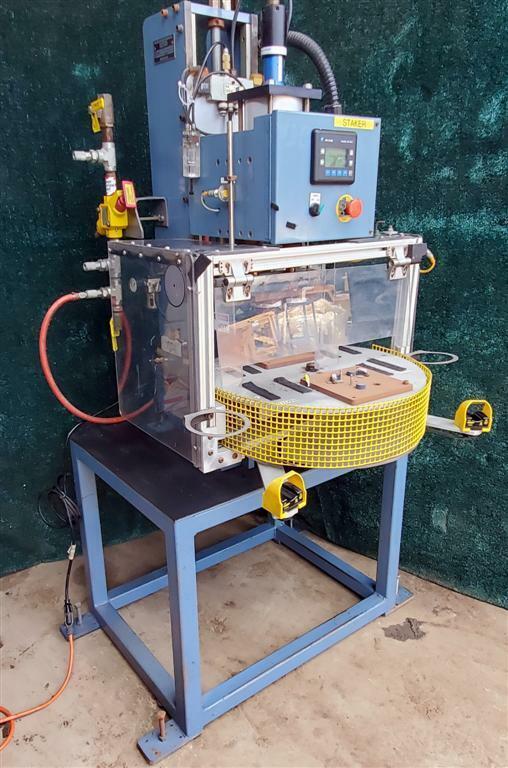 Hastings Heat Stake Staking Machine Digital PLC Control 2 Station Turntable NICE