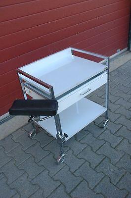 VARIOCAR Vielzweckwagen Praxis Beistelltisch Instrumentenwagen Gerätetisch