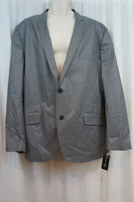 INC International Concepts Blazer Sz XXL Steel Grey Slim Fit Cotton Sports