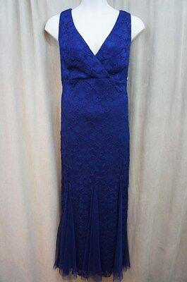 Xscape Kleid Damen Sz 20W Marineblau Spitze Ärmellos Lang Abend Cocktail Kostüm