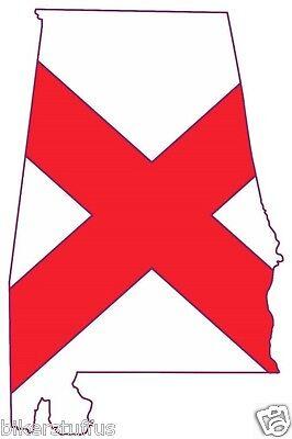 State Flag Bumper Sticker - ALABAMA SILHOUETTE STATE BUMPER STICKER USA MAP FLAG LAPTOP STICKER TOOLBOX