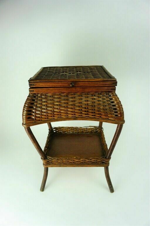 Arts & Crafts Heywood Wakefield Sewing Basket - lot 2588