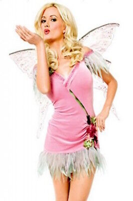3 Piece Angel/Flower Fairy/ Water Nymph Costume Dress Thong & Wings Size 8-10