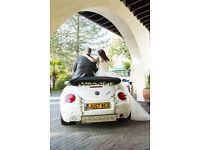 Wedding car hire - White Bettle Mercedes Range Rover - Surrey London - £300 only