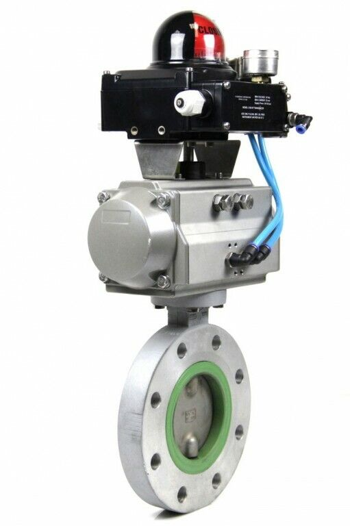 Kraft Pneumatic Turn Actuator SC00150 + Apex 5000 Converter + Butterfly Valve