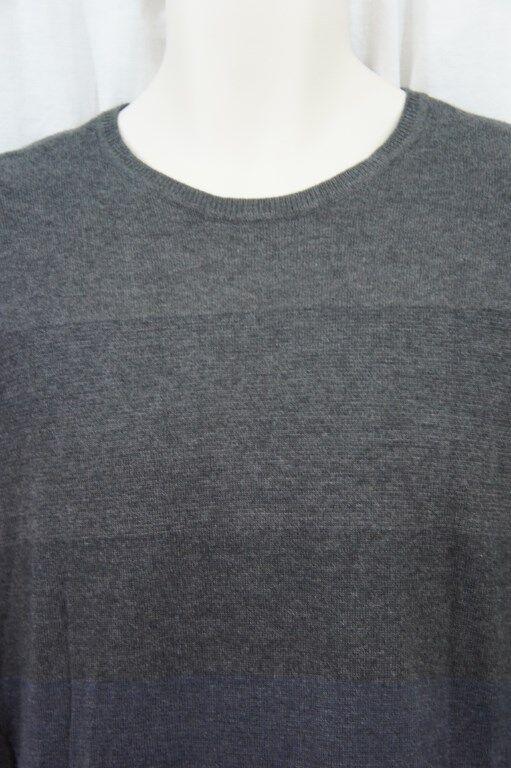 Calvin Klein Herren Pullover Größe M Offizier Marineblau Gestreifte Baumwolle