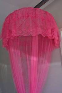 Pink Mosquito Net single Bed from ceiling Wurtulla Maroochydore Area Preview