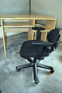 Computer Desk C/W Office Chair with Wheels.