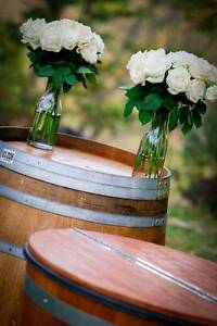 Wine barrels and DIY rustic wedding and event decor for HIRE Sunshine Coast Region Preview