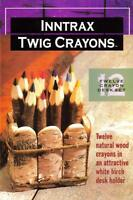 Inntrax Twig Colored Pencils Crayons Wood Wooden Craft Supplies
