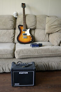 First Act Electric Guitar with Amp, Effects Peddle and Cable.