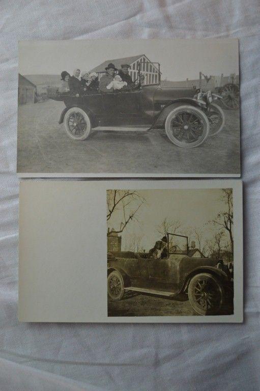 Vintage Photo Postcards circa 1916 REO Touring Convertible Car 842