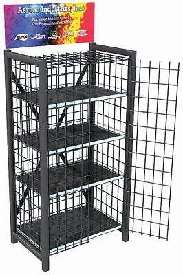 Heavy Duty Retail Metal Display Cage - 4 Shelves 8704 No Doors