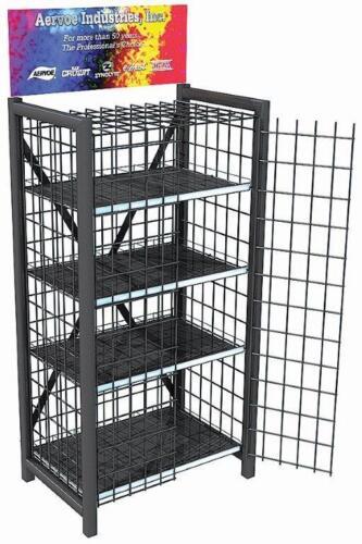 Heavy Duty Retail Metal Display Cage  - 4 Shelves #8704 (NO DOORS)