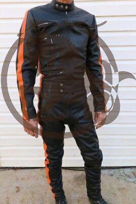 Leather Catsuit Jumpsuit Jacket Pants Lamb Leather Bikers Designed by Lenny  - Lamb Jumpsuit