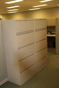 Office Furniture - Steelcase 5 Drawer Lateral Filing Cabinets