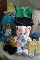 NEW in box....Build A Bear (Peace Bear with clothing etc)