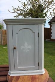 Cottage Style Pine Corner Cabinet