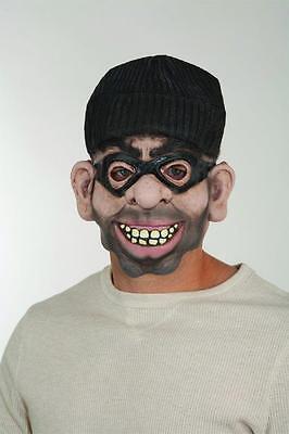 Adult Robber Mask Burglar Latex Face and Ski Hat Halloween Unisex Womens - Burglar Mask