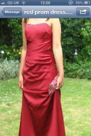 Stunning deep red prom dress size 12