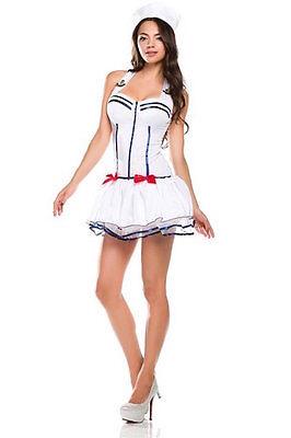 NEW Ninimour Women's Sailor Pin up Halloween Cosplay Costume (White, - Pin Up Sailor Costume Halloween