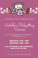 I am looking for a part time babysitting job