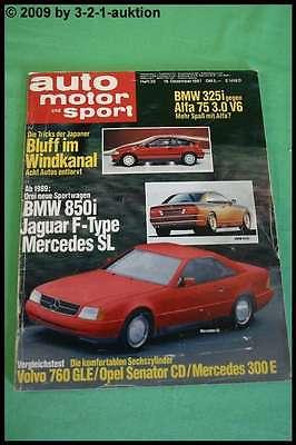 Berichte & Zeitschriften AMS Auto Motor Sport 26/87 DB SL BMW 850i Alfa 75 3.0 BMW 325i
