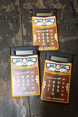 Vintage   Texas Instruments LITTLE PROFESSOR math LOT OF 3