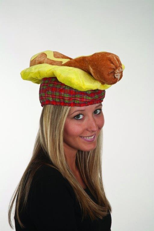 Adult Unisex Hot Dog Hat Hotdog Weiner Cap Halloween Costume Womens Mens NEW