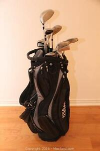 Goliath junior golf clubs & Wilson bag
