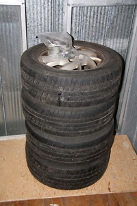 """4-15"""" tires and rims"""