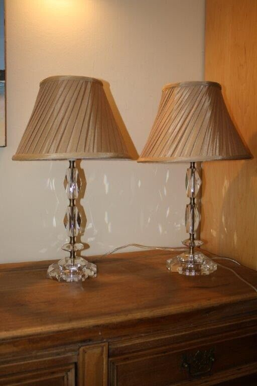 Really Lovely Perspex Cut Base Coffee Shade 2 Matching Lamps Suitable For Bedroom Or Sitting Room In Camberley Surrey Gumtree