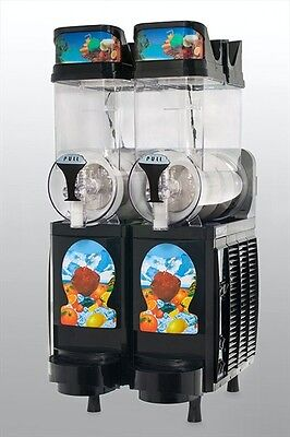 New Black Faby 2 Bowl Frozen Drink Machine
