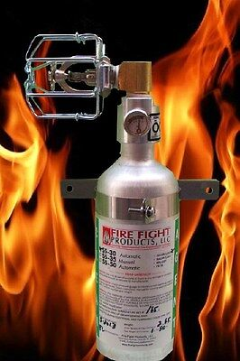Halon SS-30 Fire extinguisher Automatically Deploy 90 degree head - Halon Fire Extinguisher