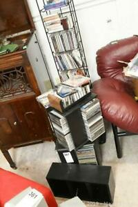 Music CDs And Stands. B