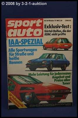 Sport Auto 10/75 Bitter CD TVR 3000 M Golf GTI + Poster